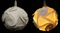 DIY paper lampshade (cyclone)- learn how to make a paper lamp/lantern by...