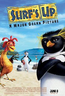 Surf S Up Movie Online. A behind-the-scenes look at the annual Penguin World Surfing Championship, and its newest participant, up-and-comer Cody Maverick. Surf Movies, Kid Movies, Family Movies, Cartoon Movies, Great Movies, Movies To Watch, Movie Tv, Children Movies, Music Videos