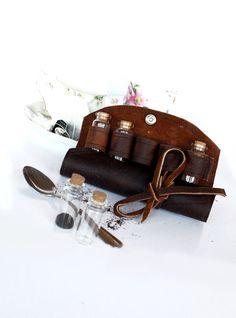 Leather+Steampunk+Case+Tea+Crafts+Essential+Oils+by+AtticRaiders