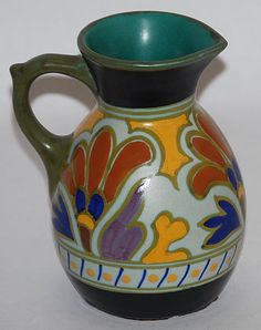 Gouda Pottery Metz Pitcher from Just Art Pottery