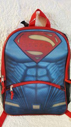 New  Superman Backpack Bookbag b17b0fa9aadd7