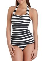 Esther Williams Snack Bar Beauty One Piece in Black   Mod Retro Vintage Bathing Suits   ModCloth.com