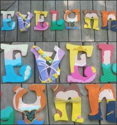 Disney Princess Inspired Wall Letters by DanicaBowtique on Etsy, $15.00