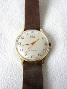 Vintage Watches Collection : Gents ORIS Super 17 Jewels Wrist Watch - Watches Topia - Watches: Best Lists, Trends & the Latest Styles Mens Dress Watches, Vintage Watches For Men, Gents Watches, Watch Companies, Pocket Watches, Wrist Watches, Latest Fashion, 1950s, Clock