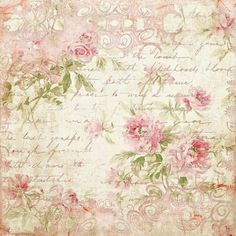 Pale pink Roses on handwriting