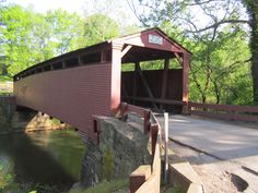 A covered bridge in Westmoreland county, PA
