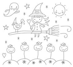 Halloween Ride Embroidery Pattern. $2.50, via Etsy.
