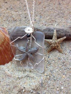 315 Starfish on clear Seaglass