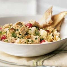 "This 20-minute salad topped reviewer Kelly's expectations for a chicken salad. ""This is surprisingly very good! I made it thinking it would be fine and healthy―but wow! The flavors are great and such a change from the run-of-the-mill salads I'm used to making!"" View Recipe: Chicken and Couscous Salad"
