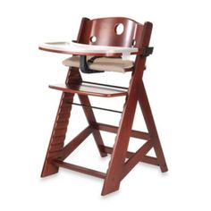 Keekaroo Height Right High Chair with Tray in Mahogony