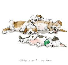 Anita Jeram, best-known for her illustrations of children's book Animal Drawings, Cute Drawings, Dog Drawings, Dog Illustration, Illustrations, Funny Dogs, Cute Dogs, Animals And Pets, Cute Animals
