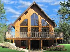House Plan 76407, Order Code PT101 | A-Frame Cabin Contemporary Plan with 1301 Sq. Ft., 3 Bedrooms, 2 Bathrooms