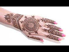 Best Bridal Henna Design 2015 : Step By Step Description Of The Design - YouTube