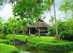 Typical backwater home, Kerala
