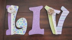 """9"""" Decoupaged Girl's Letters - Nursery or bedroom by DecorativeDecoupage, $57.00"""