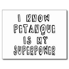 Je sais que Petanque est la ma superpuissance Cartes Postales