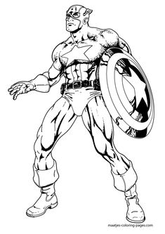 Superhero Captain America Coloring Pages For Kids Pj Masks Coloring Pages, Planet Coloring Pages, Avengers Coloring Pages, Spiderman Coloring, Lego Coloring Pages, Coloring Pages For Boys, Printable Coloring Pages, Kids Coloring, Coloring Sheets