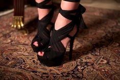 Fendi Tulle-Embellished Suede Sandals