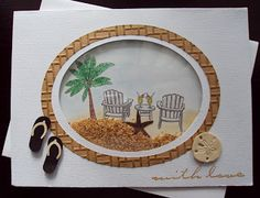 Day at the Beach Scrapbooking, Scrapbook Cards, Cricut Cards, Stampin Up Cards, Paper Cards, Folded Cards, Holiday Cards, Christmas Cards, Spinner Card