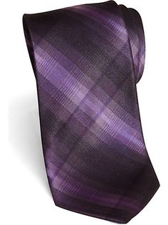 Ties - Wilke Rodriguez Purple Tonal Plaid Skinny Tie - Men's Wearhouse