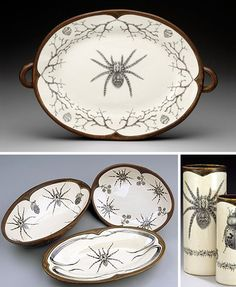 Ceramic Fantastic: The Victorian Vision of Laura Zindel. What every ghoul needs for her Halloween table!