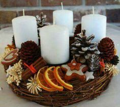 tinker rustic advent wreath yourself The Effective Pictures We Offer You About DIY Wreath summer A quality picture can tell you many things. Centerpiece Christmas, Christmas Advent Wreath, Christmas Candles, Christmas Love, Christmas Colors, Rustic Christmas, Xmas Decorations, Winter Christmas, Christmas Themes