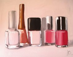 Nail Polish original painting by Linda Boucher