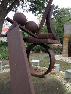 Fletcher Benton, The Seltzer Sculpture Garden in Cleveland, Ohio