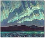 Jackson, 1882 - 1974 Aurora, 1927 oil on canvas x Art Gallery of Ontario, Toronto Gift of the Canadian National Exhibition Association, 1965 Group Of Seven Artists, Group Of Seven Paintings, Tom Thomson, Emily Carr, Canadian Painters, Canadian Artists, Beautiful Landscape Paintings, Landscape Art, Of Montreal