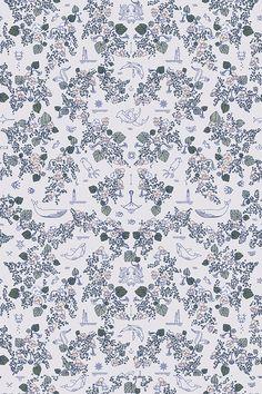 Mares Dark Wallpaper Pattern by Swedish designstudio Garbo & Friends.    #wallpaper  #kids #wallmural #roomdecor #homedecor #interiordesign #scandinavianstyle #swedishdesign #tapet #barnrum #barn