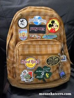 Disney backpack. This is a good list to start with of things to make sure you take with you into the parks.  A few comments added important extras.  I would also add hats & sunglasses are a must! And if you have a smartphone - a Disney lines app  will save you so much time in line