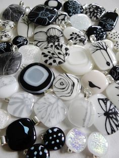 Black & White Fused Glass Designs