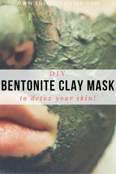 Easy bentonite clay mask that's great for detoxifying your skin!! Click through to read the recipe >>
