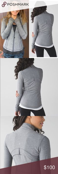 Lululemon Define Jacket Worn twice  Size 2 Heathered slate grey  Zip up  Sold out color lululemon athletica Jackets & Coats