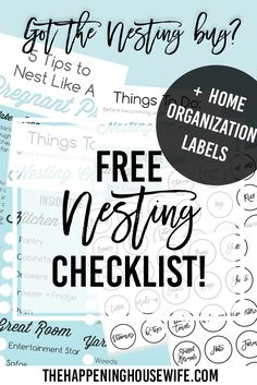 Nest Like a Pregnant Pro! + FREE Home Organization Labels!