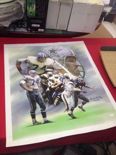 Bob Lilly Dallas Cowboy Autographed Canvas-jsa Coa