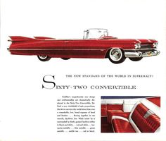 1959 Cadillac Series 62 Convertible Ad