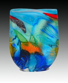 """'Ambiguous Macaw' Handblown Art-Glass Sculpture by Noel Hart - D's:12.5"""" x 10"""" x 2.5""""- [SOLD] 'TanseyContemporary' ★༺❤༻★"""