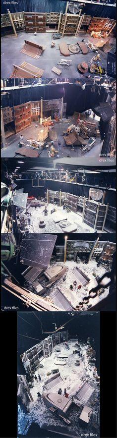 "Set construction and design for Rigel X landing area for the pilot episode of ""Enterprise"" ""Broken Bow."" #startrek #dougdrexler #enterprise #captainarcher #paramount #soundstage #shuttlepod"
