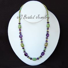 Amethyst and Turquoise Gemstone Necklace