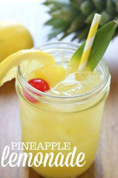 This Fresh Fruit Summer Lemonade is a kid-friendly re. This Fresh Fruit Summer Lemonade is a kid-friendly refreshing beverage for holidays, parties, birthdays, or pool time treat! Pineapple Drinks, Pineapple Lemonade, Fruit Drinks, Smoothie Drinks, Non Alcoholic Drinks, Healthy Drinks, Healthy Nutrition, Nutrition Chart, Beverages