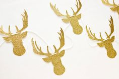 Add a little glitz and glam to your holiday decor with this deer garland ($22).