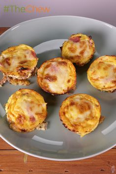 Serve up these easy-to-make individual Mini Ham & Cheese Quiches for your next brunch feast. #TheChew