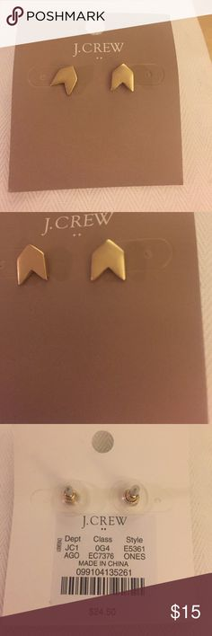 J. Crew Earrings Color:Gold Platted                                                                 Light gold ox flash plating. J. Crew Factory Brand💖 J. Crew Jewelry Earrings