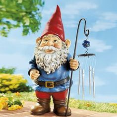 Gnomes use chimes to locate lost rabbits. They keep them chiming until they fimd them.