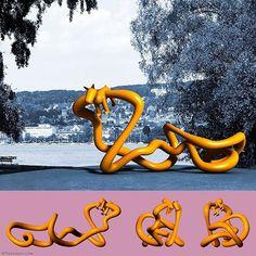 Leash With Dog: public sculpture for seaside resort Mythenquai in Zurich. Invited competition height 300 cm length 800 cm. #rolandfaesser #landmark #publicart #urbanart #contemporaryart https://faesser.com/