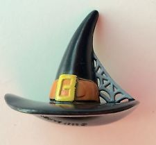 """6 Pc. 2"""" Plastic Mini Witch Hats Cupcake Toppers Cake Decorations Pencils Crafts"""