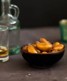 Crunchy toffee-covered Brazil nuts with a good whiskey and an open fire. Heaven.
