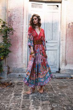 Bohemian Maxi Dress Women Lotus Dress Summer Gypsy Robe Boho Print Long Dress V Neck Dress Short Beach Dresses, Sexy Dresses, Casual Dresses, Cheap Dresses, Cheap Clothes, Look Fashion, Fashion Outfits, Womens Fashion, Latest Fashion