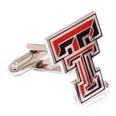 Texas Tech Red Raiders Cufflinks, NCAA College University Cufflinks from Cufflinksman